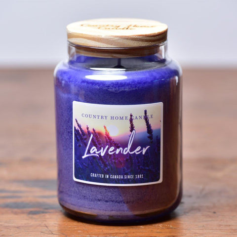 Country Home Candle - Lavender | Rubies Inc. Chatham ON Canada