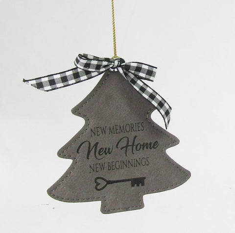Leather Tree Ornament Including Personalization | Rubies Inc. Chatham