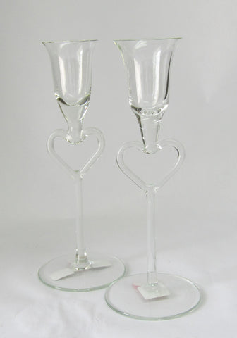Heart Stem Candle Holders or Grappa Glasses | Rubies Inc., Chatham, ON
