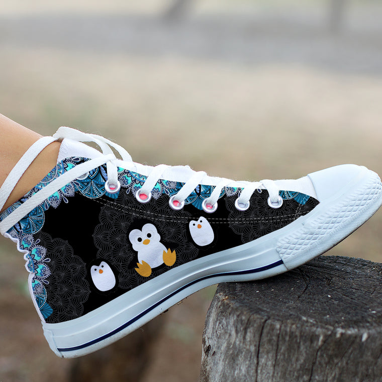 Cute Penguins by GlendaSaldago High and Low Tops