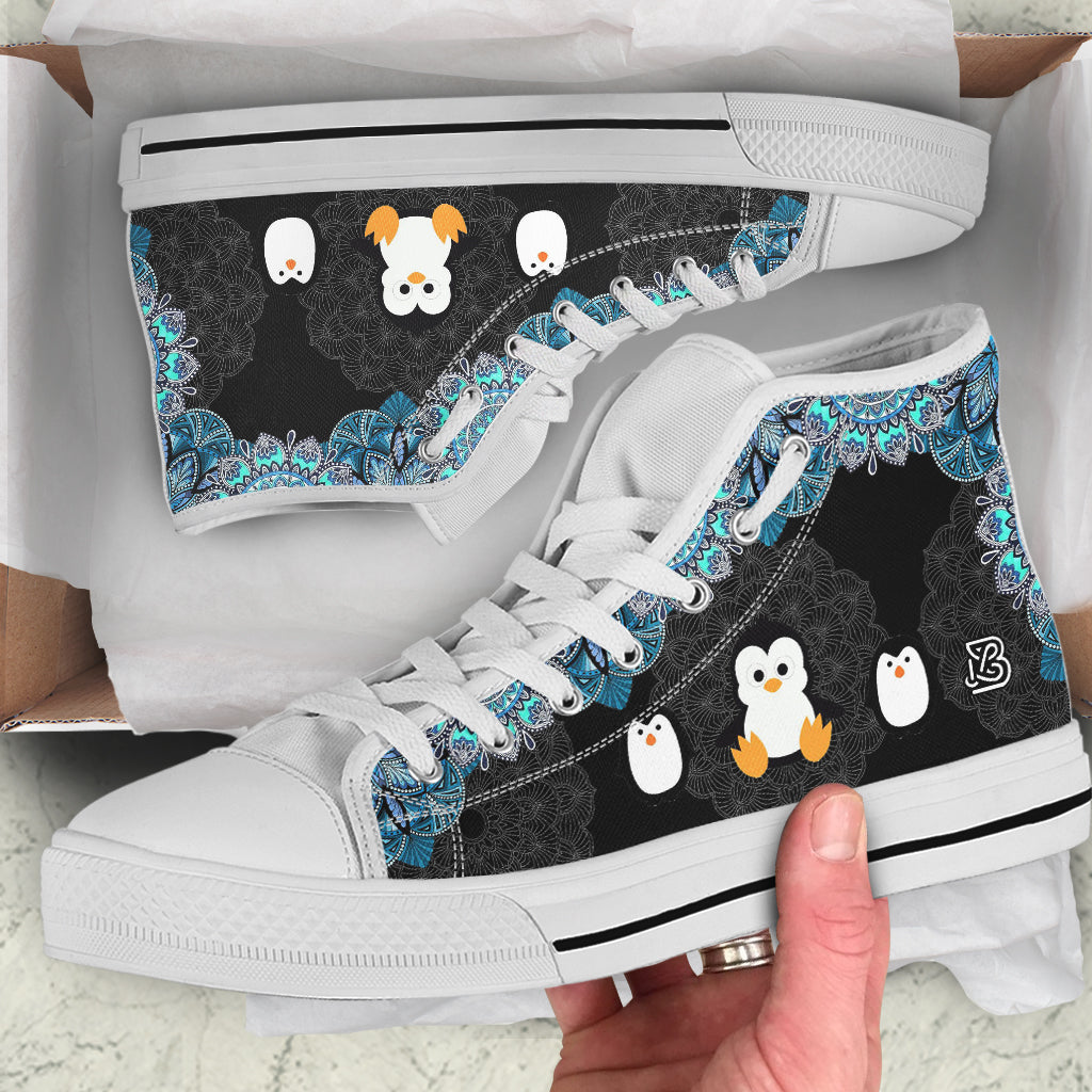 Cute Penguins by GlendaSaldago - High Tops and Low Tops