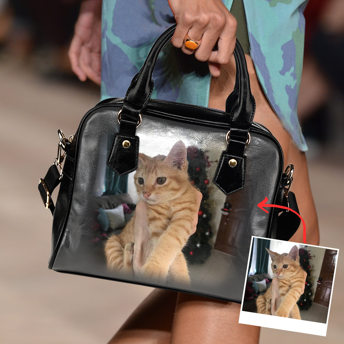 Personalized Family Cat - Shoulder Handbag