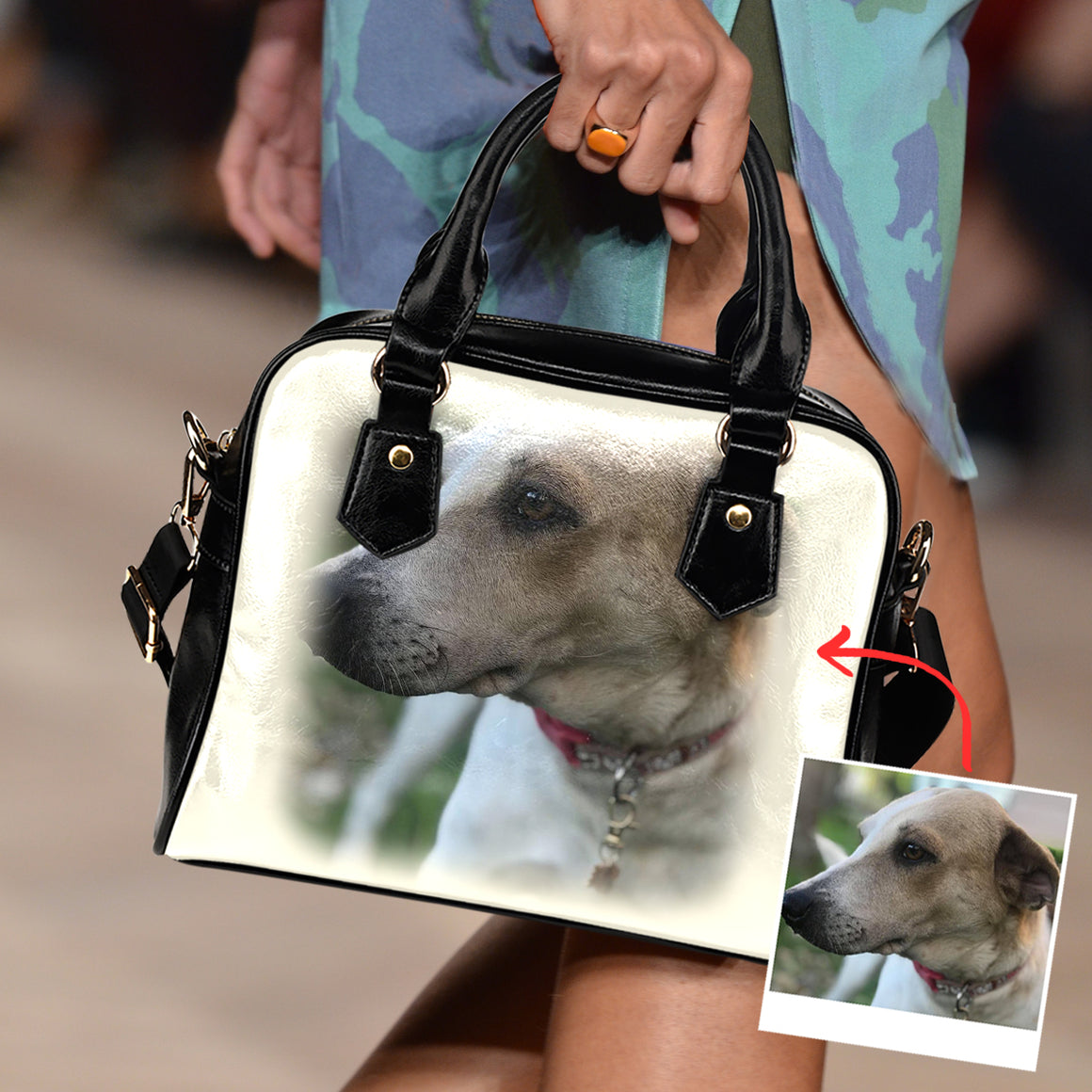 Personalized Family Dog - Shoulder Handbag