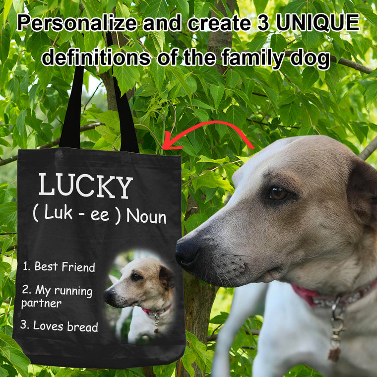 Definition of the Family Dog - Personalized Shopping Tote Bag