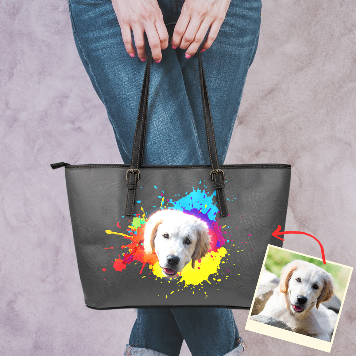 Personalized Doggie Paint Splatter Art - Bag Collection