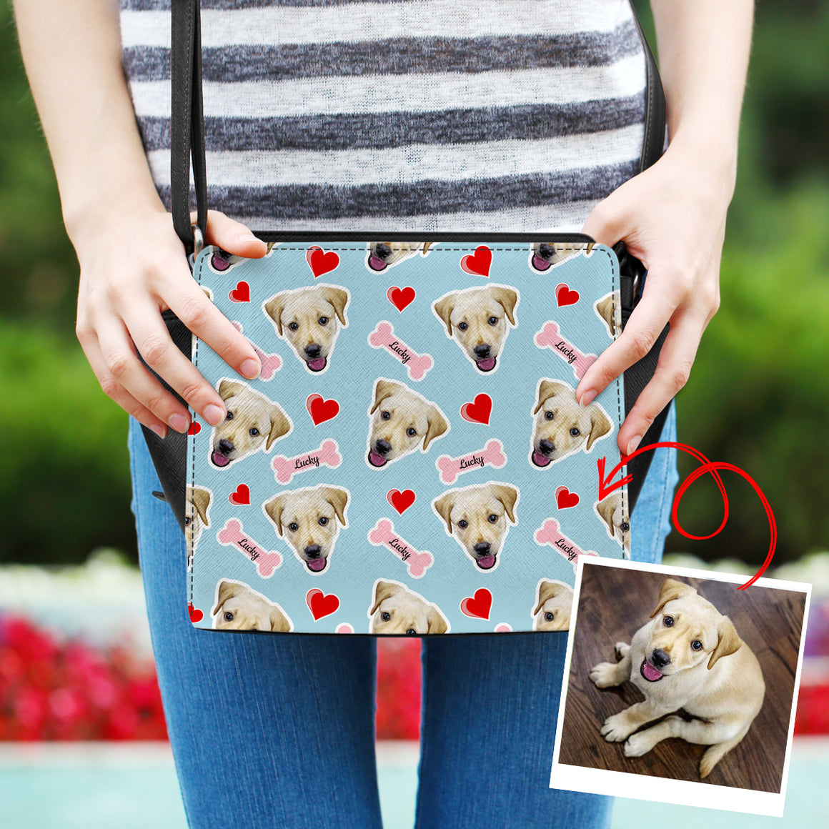 Personalized Doggie Hearts and Bones - Bag Collection