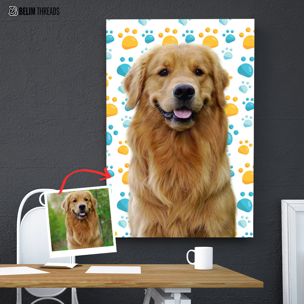 Personalized Doggie Artwork One Piece Canvas
