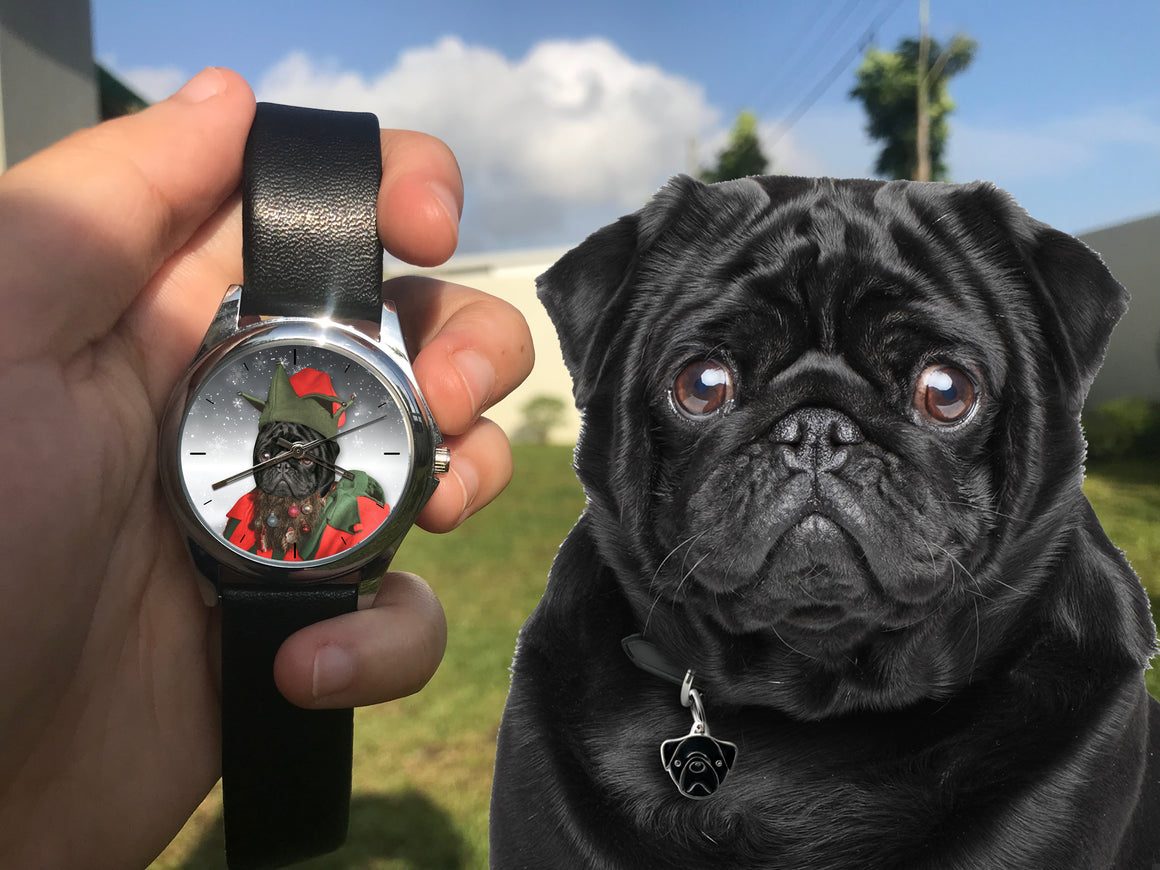 Santa's Little Helper - Personalized Family Dog Watch