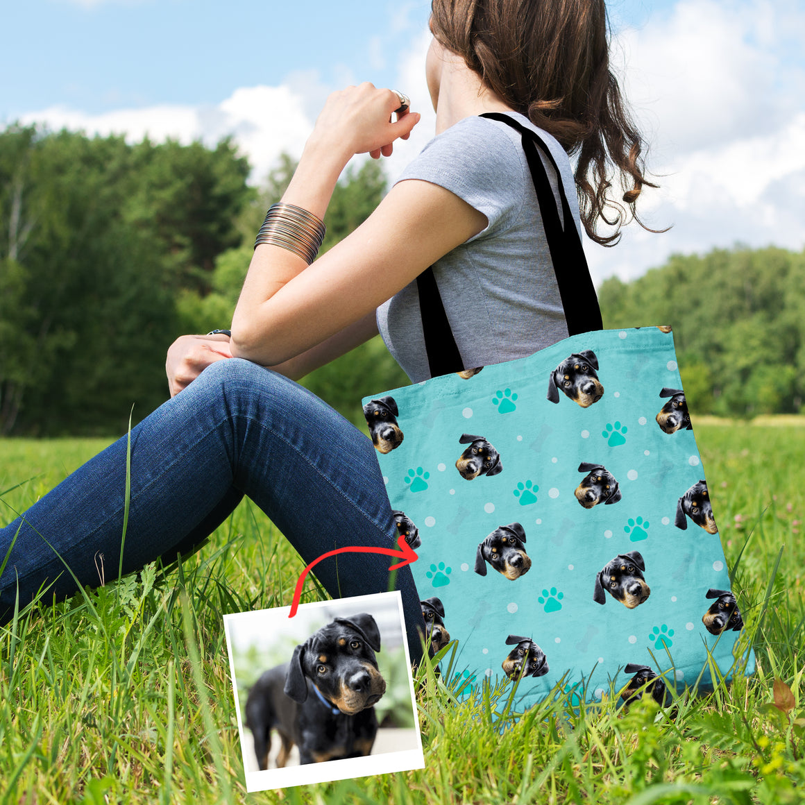 Personalized Doggie Pattern Bag Collection