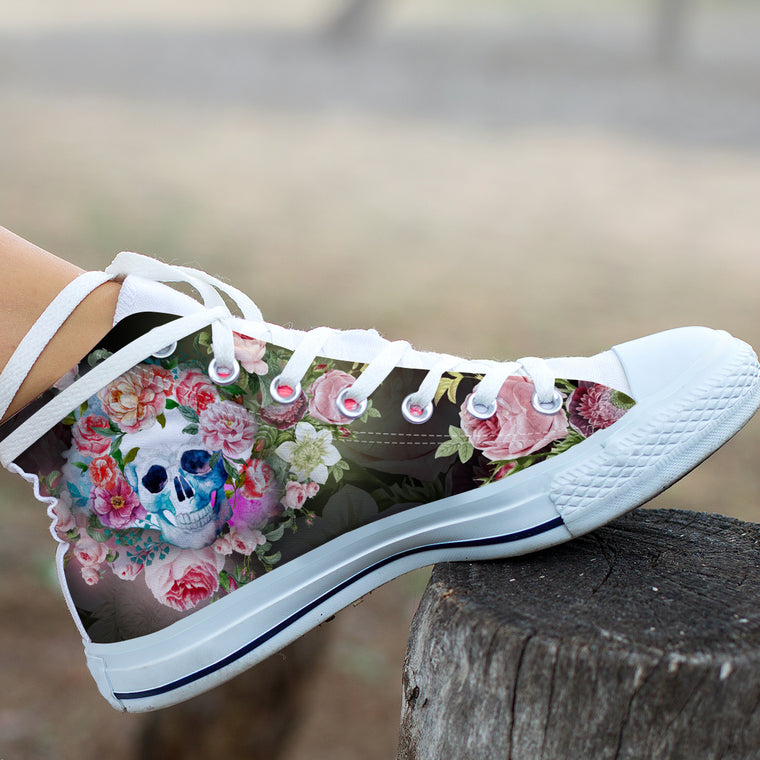 Hollow Skull by ZeusArt - High Tops and Low Tops
