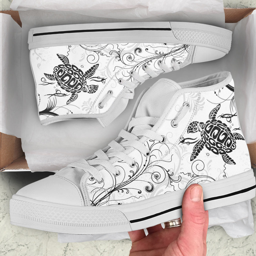 Turtle Tattoo by GlendaSaldago - High Tops and Low Tops