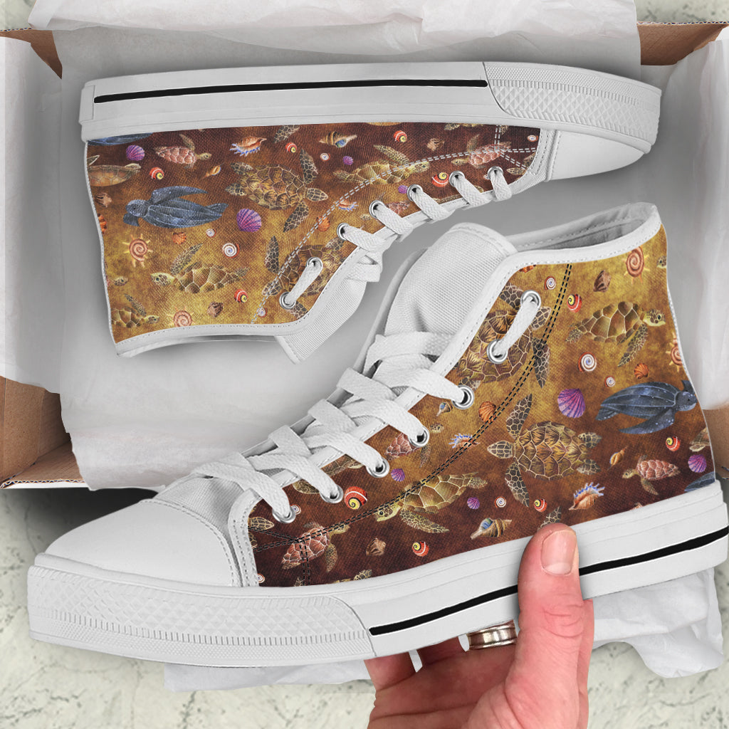 Watercolor Sea Turtles by Rolen - High Tops and Low Tops