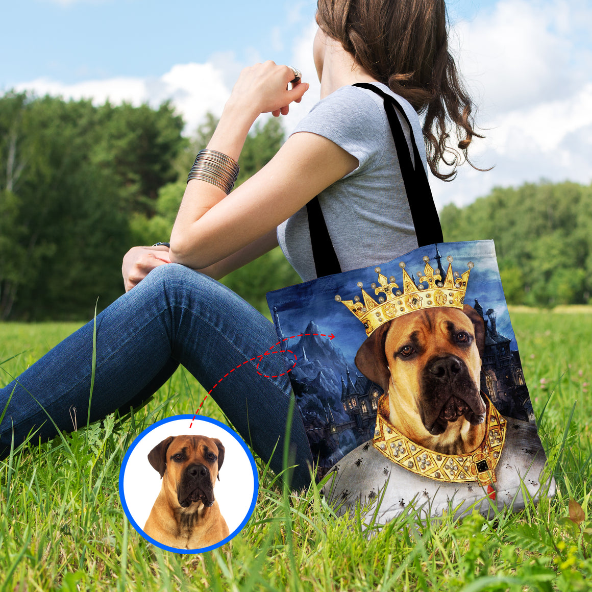 The Doggie King - Personalized Shopping Tote Bag