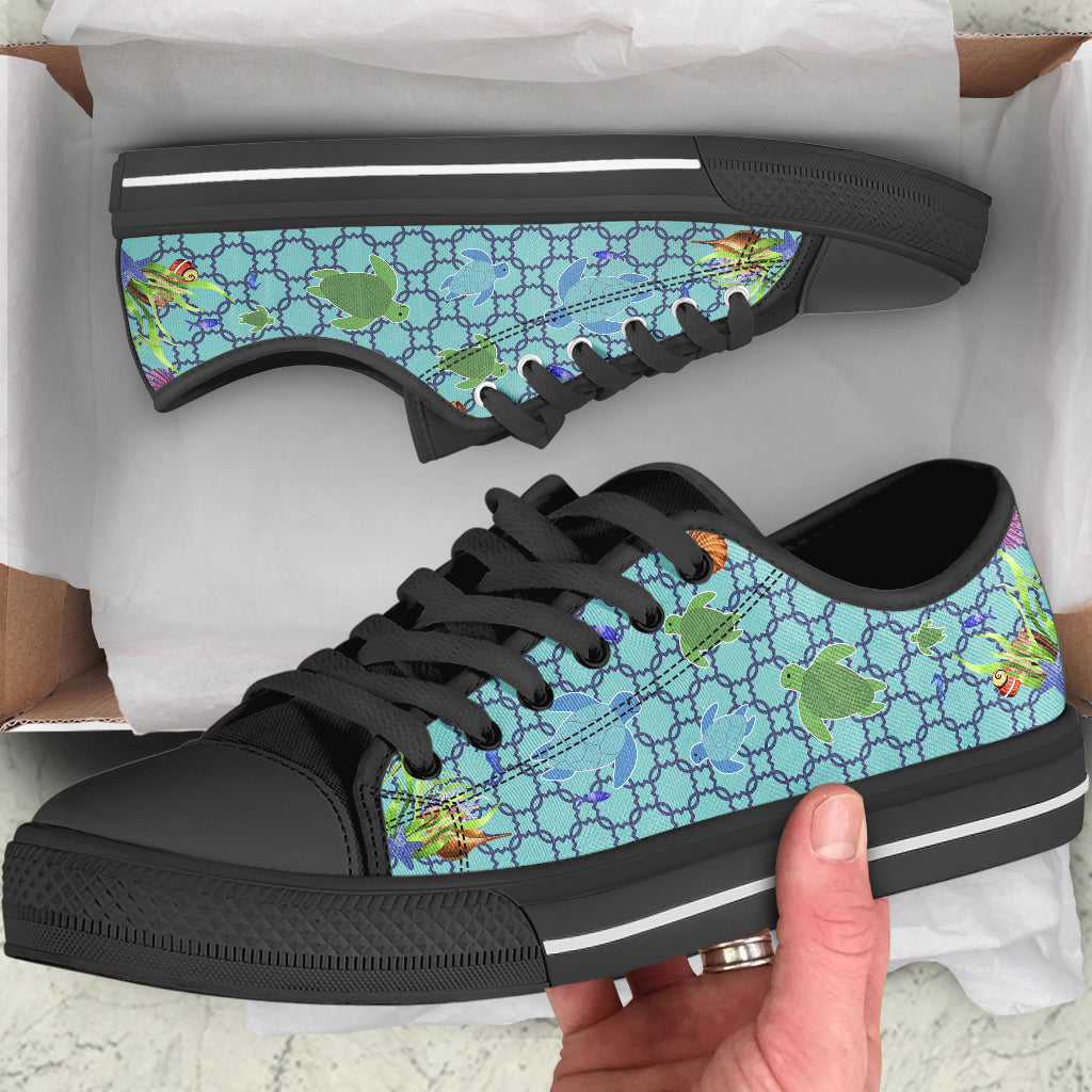 Under The Sea Turtles by Rolen - High Tops and Low Tops