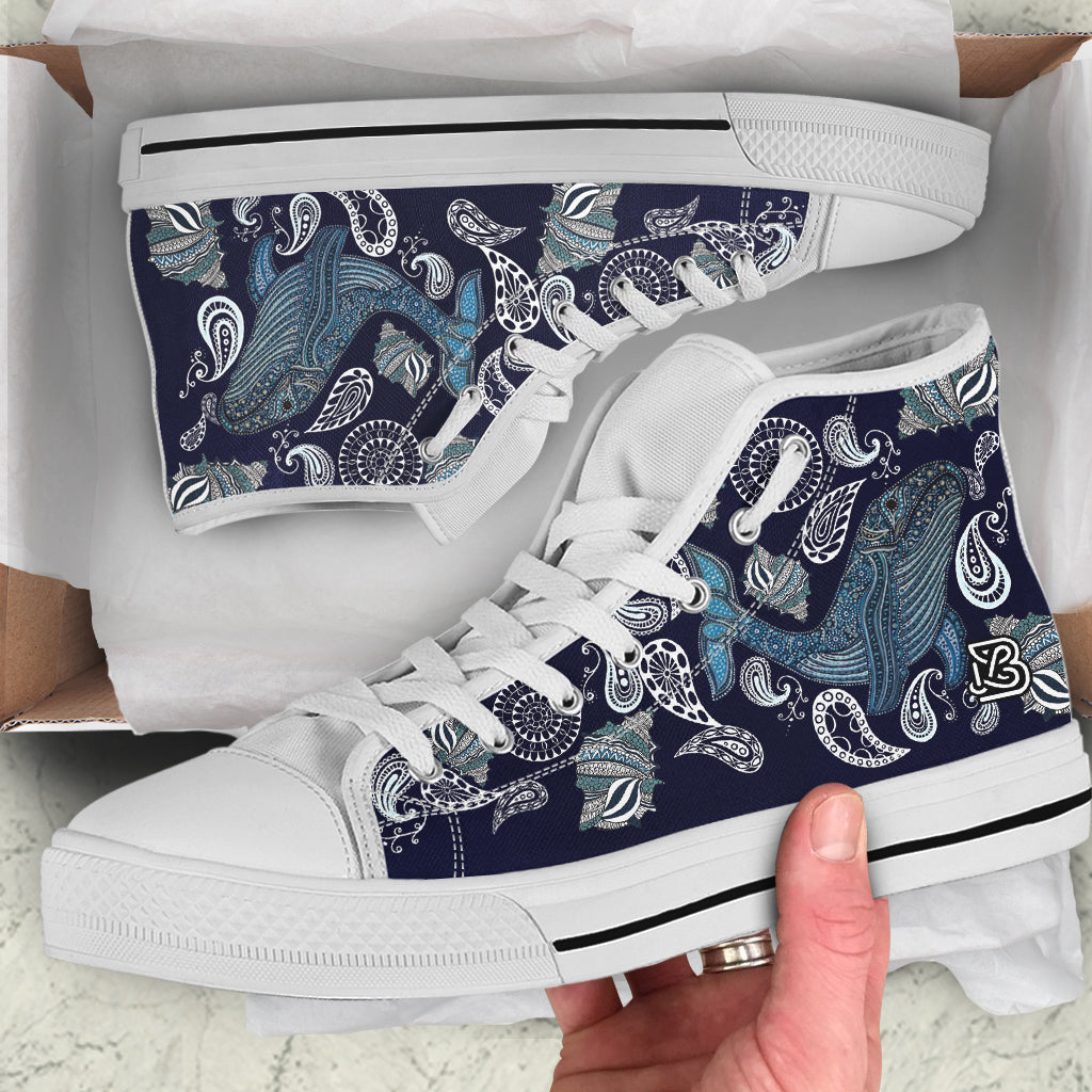 Whale Shell Mandala by ZeusArt - High Tops and Low Tops