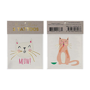 Cat Temporary Tattoos from Meri Meri