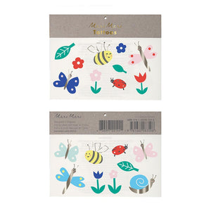 Garden Bugs Temporary Tattoos from Meri Meri