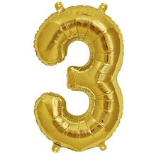 16 Inch Gold Air Fill Letter/Number Balloon from Crosswear