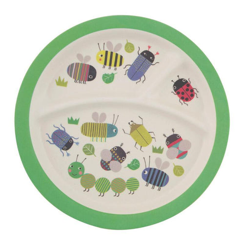 Busy Bugs Kids Divided Plate from Sass & Belle