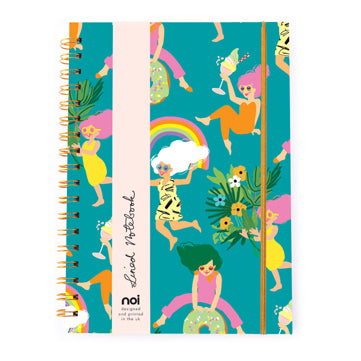 Fun Girls Spiral Bound Hard Cover Notebook from Noi
