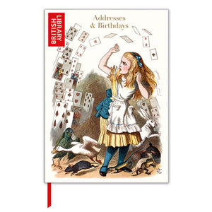 Alice in Wonderland Address & Birthdays Book