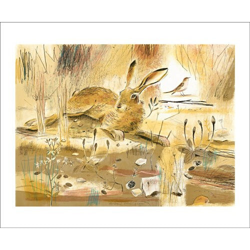 Andrew Waddington Resting Hare from Art Angels