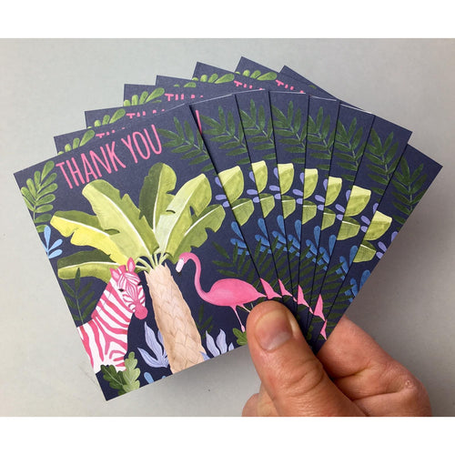 Zebra & Flamingo Thank You 8PK