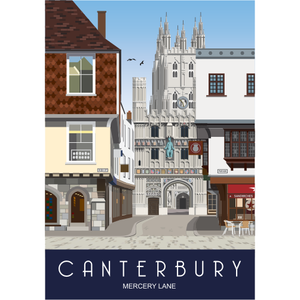 Canterbury Tea Towel - Mercery Lane from Star Editions