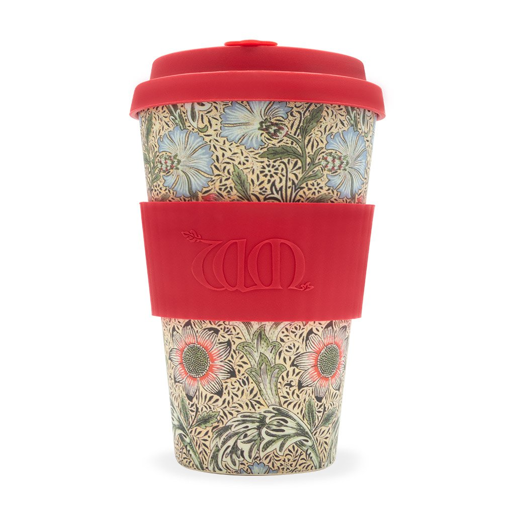 Corncockle William Morris 14oz Bamboo Coffee Cup from ecoffee