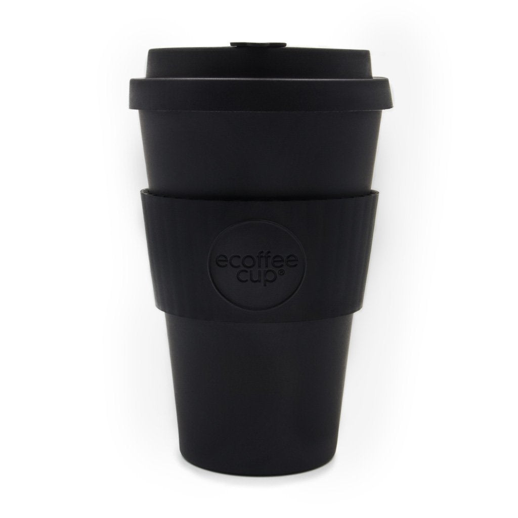 Black 14oz Reusable Bamboo Cup from ecoffee