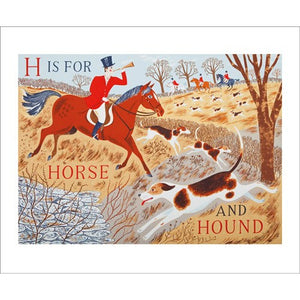 Emily Sutton H is for Horse and Hound from Art Angels