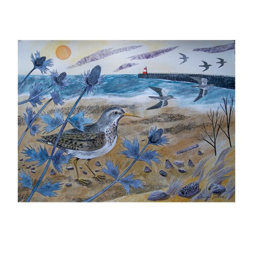Emily Sutton Sandpipers with Sea Holly from Art Angels