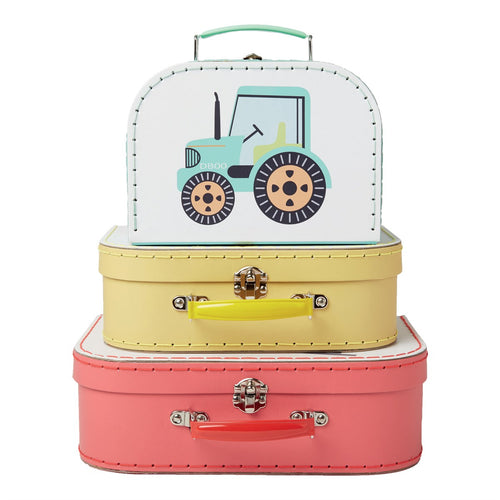 3 Suitcases Trucks from Sass & Belle
