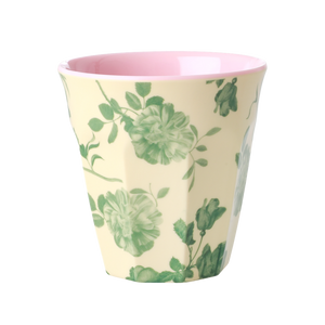 Green Rose Print Cup
