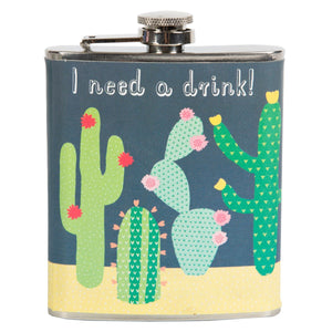 Cactus Hip Flask from Sass & Belle