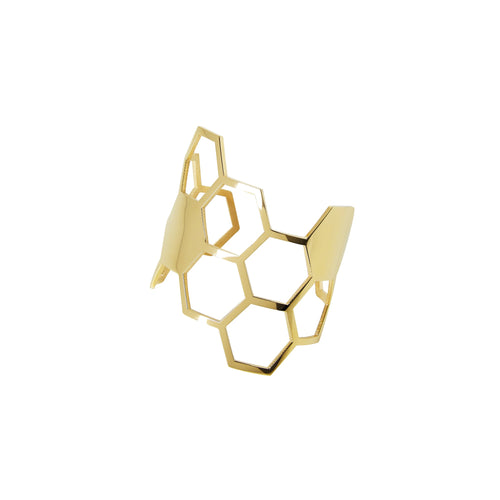 Gold Honeycomb Cuff from Esa Evans