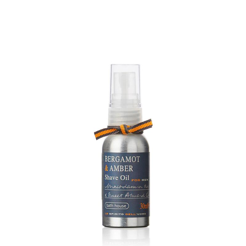 Bergamot & Amber Shave Oil 30ml from Bath House
