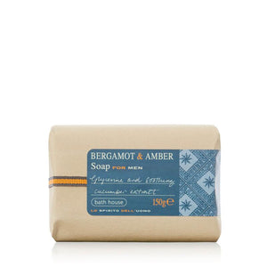 Bergamot & Amber Soap Bar 150g from Bath House