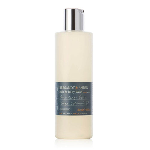 Bergamot & Amber Hair & Body Wash 260ml from Bath House