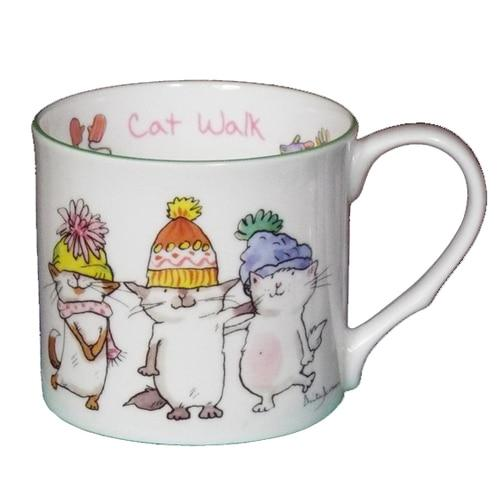 Cat Walk 300ml Mug from Two Bad Mice