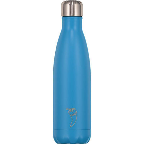Chilly's Bottle Neon Blue 500ml from Chillys