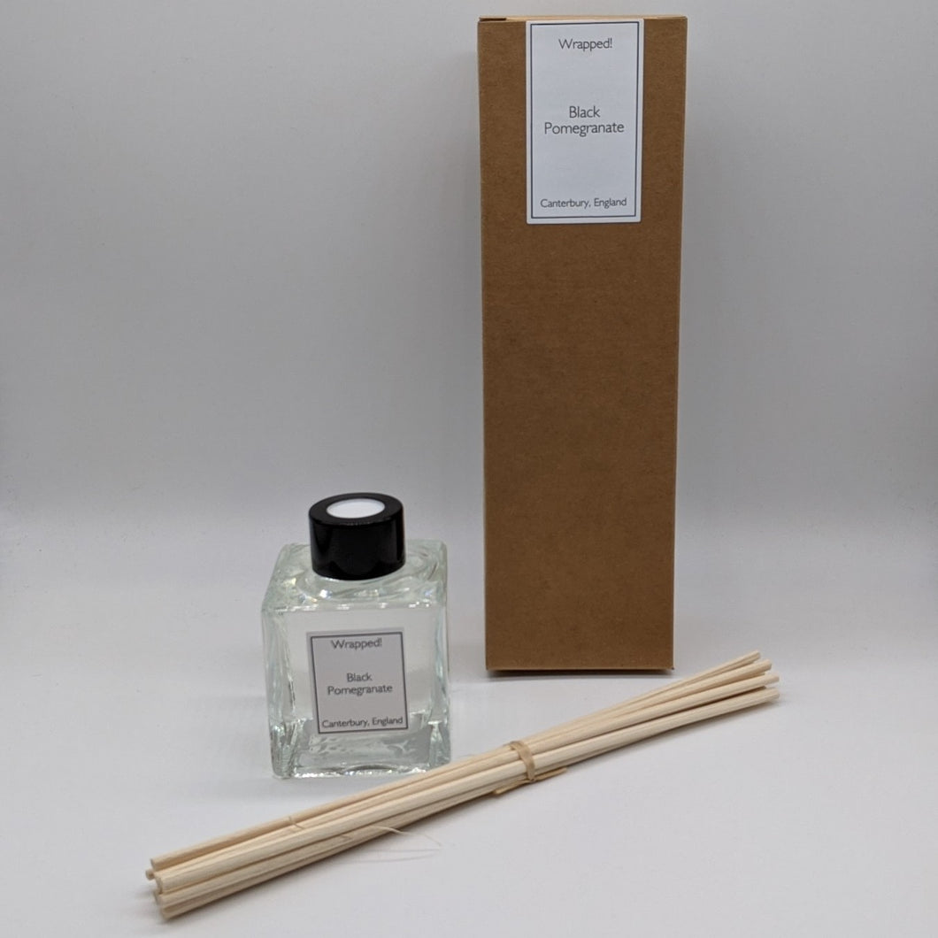 Black Pomegranate Natural Rattan Reed Diffuser