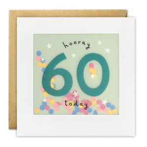 Age 60 Birthday Paper Shakies Card
