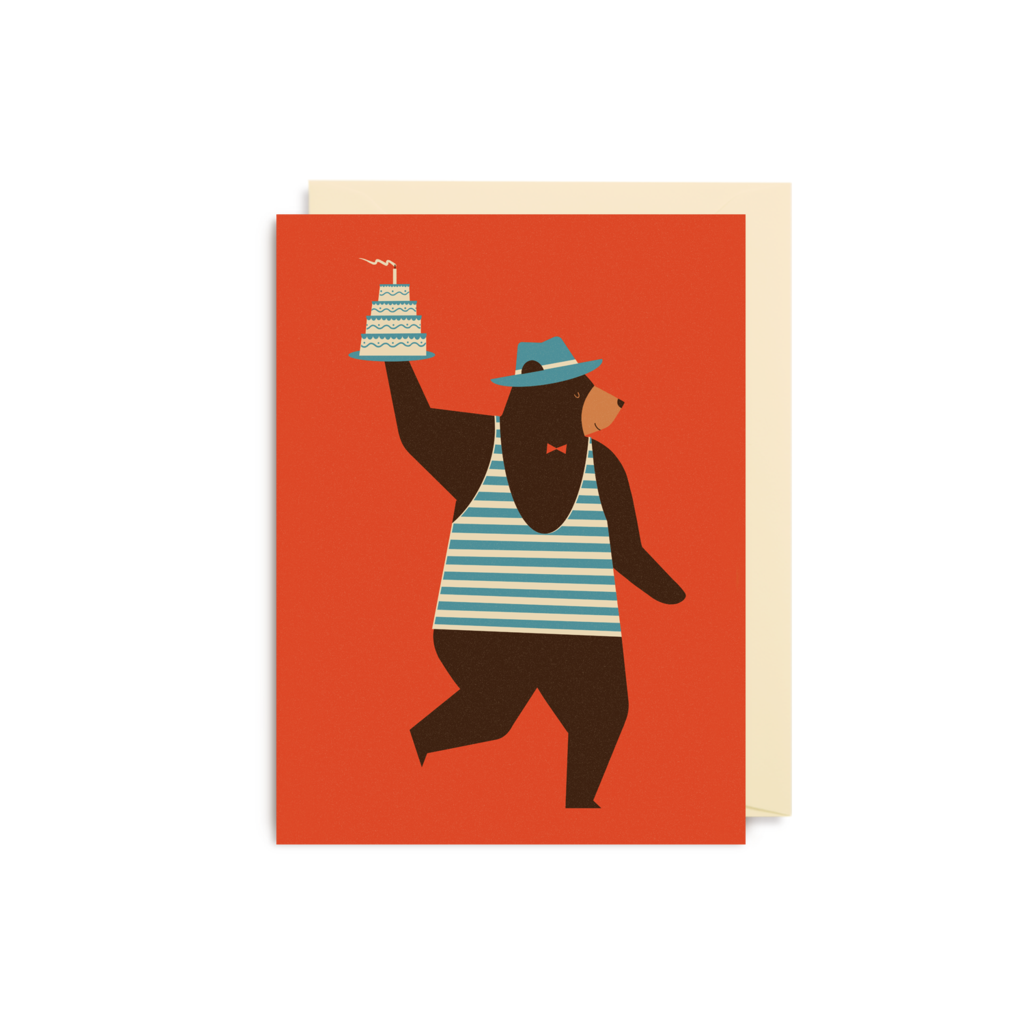 Dawid Ryski Birthday Bear Mini Card from Lagom