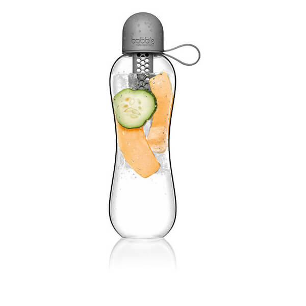 BobblePlus Water Filter Infuser Bottle Grey from Auteur