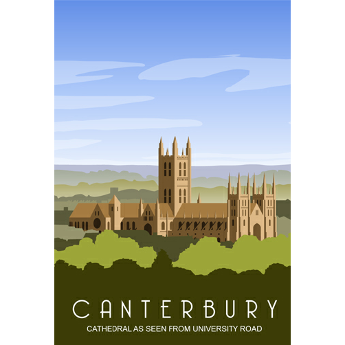 Cathedral View Canterbury Postcard from Star Editions