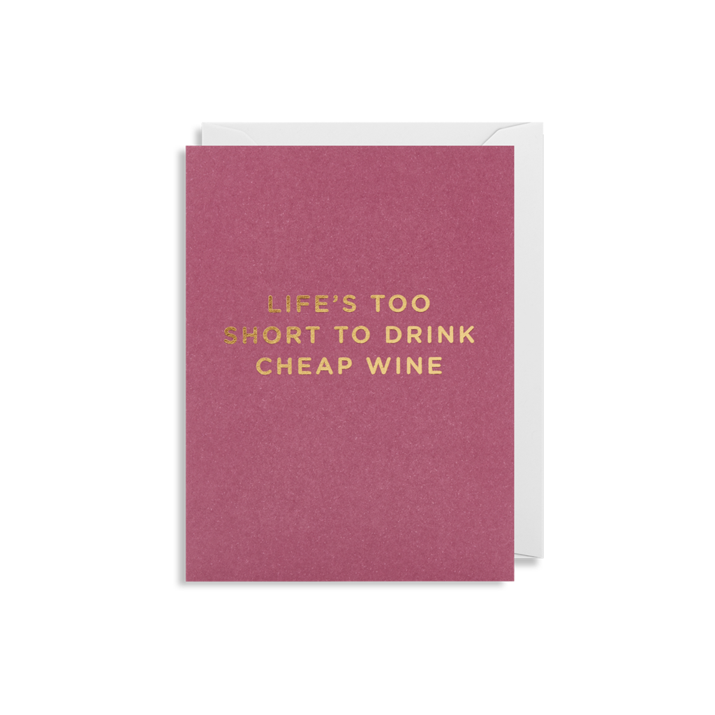 Cheap Wine Mini Card from Lagom