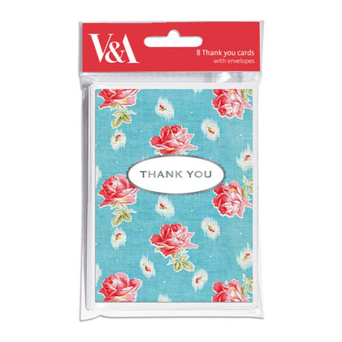 Chintz Roses Mini Thank You Notecards