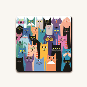 Cat Gang Coaster from Ustudio