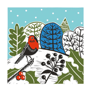 Christmas Fayre Country Robin Christmas Cards 8 Pack